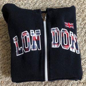 Hoodie zip up sweatshirt from London